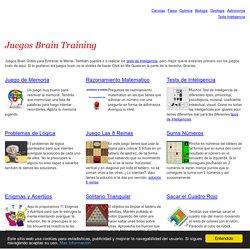 Juegos Brain Training Gratis para Entrenar la Mente