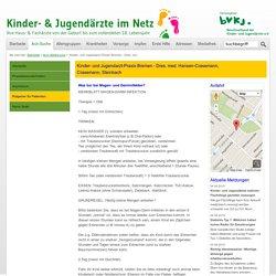 Kinder- und Jugendarzt-Praxis Bremen - Dres. med. Hansen-Crasemann, Crasemann, Steinbach / Ratgeber für Patienten
