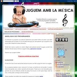 JUGUEM A LA MÚSICA: ANÀLISIS DE PROGRAMES