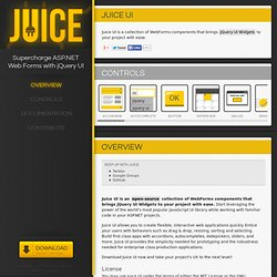 Juice UI → Supercharge ASP.NET Web Forms with jQuery UI