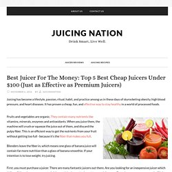 Best Juicer For The Money: Top 5 Best Cheap Juicers Under $100 (Just as Effective as Premium Juicers)