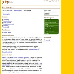 CSS Analyser