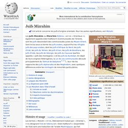 Juifs Mizrahim
