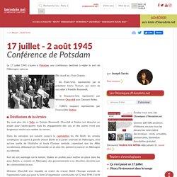 17 juillet - 2 août 1945 - Conférence de Potsdam - Herodote.net