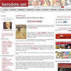 6 juillet 1535 - Décapitation de Sir Thomas More