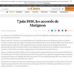 7 juin 1936, les accords de Matignon - La Croix