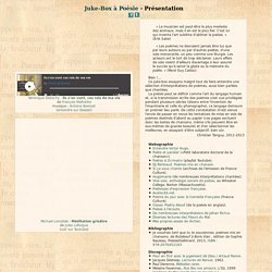 Juke-box Poésie : Accueil