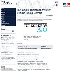 Jules Ferry 3.0, Bâtir une école créative et juste dans un monde numérique