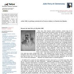 Jules Ferry et Clemenceau