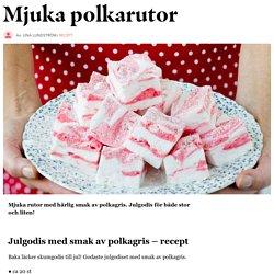 Julgodis med smak av polkagris – recept