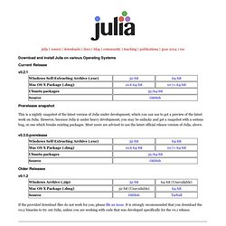 Julia Downloads