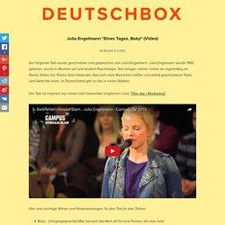 """Julia Engelmann """"Eines Tages, Baby"""" (Video)"""