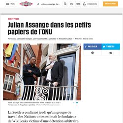Julian Assange dans les petits papiers de l'ONU