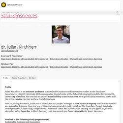dr. Julian Kirchherr - Geosciences