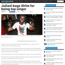 Juliani bags Sh1m for being top singer - News