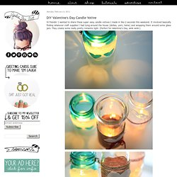 DIY Valentine's Day Candle Votive