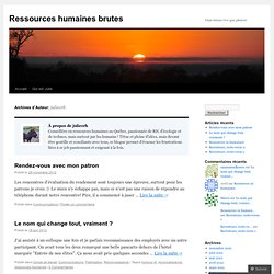 Ressources humaines brutes