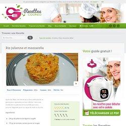 Riz julienne et mozzarella - Recettes Cookeo