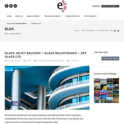 Glass Juliet Balcony - Glass Balustrades - Sky Glass Ltd