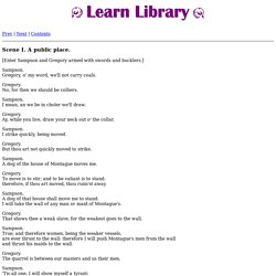 Romeo and Juliet by William Shakespeare - Free Online Book - Scene I. A public place.