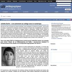 Juliette Sorlin : Lire autrement au collège avec le numérique