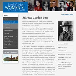 Low, Juliette Gordon - National Women's Hall of Fame