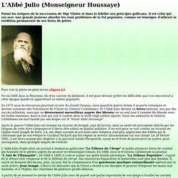 L'Abbé Julio - Monseigneur Houssaye