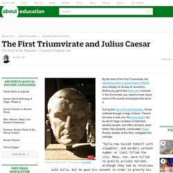 julius caesar rise to prominence Genius, general, patrician, gaius julius caesar was history  he adored them, used them, destroyed them on his irresistible rise to prominence.
