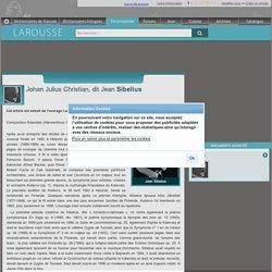 Johan Julius Christian dit Jean Sibelius - larousse.fr