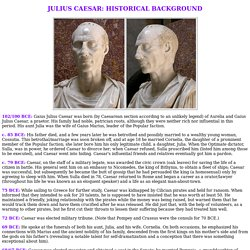 Julius Caesar: Historical Background