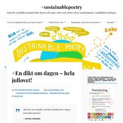 #En dikt om dagen – hela jullovet! – #sustainablepoetry