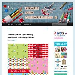 Julmönster för nedladdning – Printable Christmas patterns