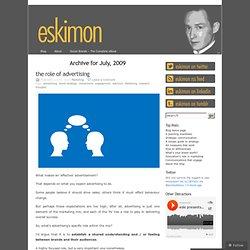 2009 July « eskimon