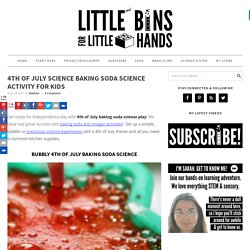 4th Of July Baking Soda Science for Preschool