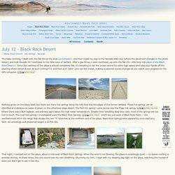 July 12 - Black Rock Desert