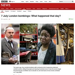 7 July London bombings: What happened that day?