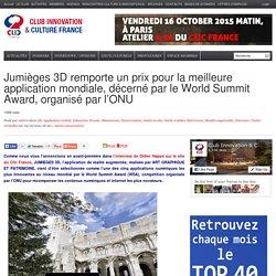 Jumièges 3D remporte un prix pour la meilleure application mondiale, décerné par le World Summit Award, organisé par l'ONU