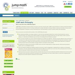 JUMP Math Philosophy