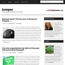 Jumper | Diane Ragsdale on what the arts do and why