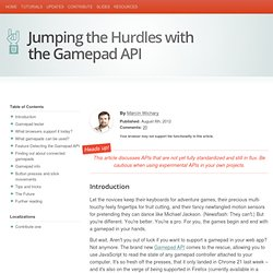 Jumping the Hurdles with the Gamepad API