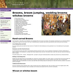 Brooms, broom jumping wedding brooms witches brooms - BroomMagic