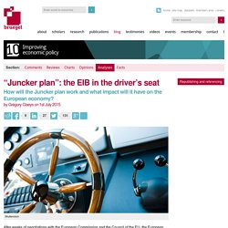 """Juncker plan"": the EIB in the driver's seat"