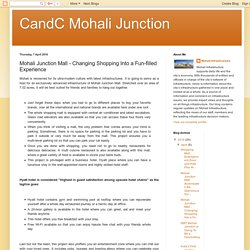 CandC Mohali Junction: Mohali Junction Mall - Changing Shopping Into a Fun-filled Experience