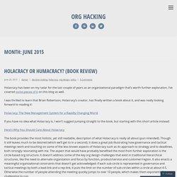 Org Hacking