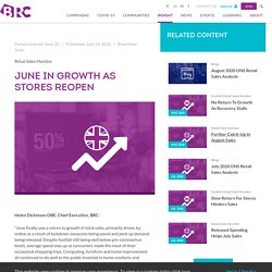 June in Growth as Stores Reopen