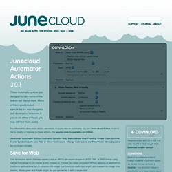 Junecloud Automator Actions 3.0.1 ~ Mac OS X
