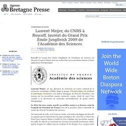 Le Grand Prix Émile Jungfleisch de l'Académie de sciences e