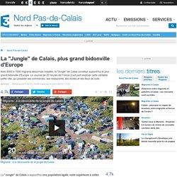 """La """"Jungle"""" de Calais, plus grand bidonville d'Europe"""