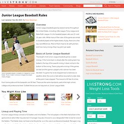 Rules Of American & National League Baseball