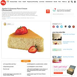 Junior's Famous Pure Cream Cheesecake